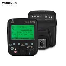 YONGNUO YN560 TX PRO 2.4G flaş tetik Speedlite kablosuz verici Nikon DSLR kamera için YN968N Speedlite RF605 alıcı