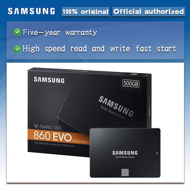 Samsung Internal Solid State Drive 860 EVO 250GB 500GB 1TB SATA 3  2.5 inch HDD Hard Disk HD SATA III SSD for Laptop ComputerInternal  Solid State Drives