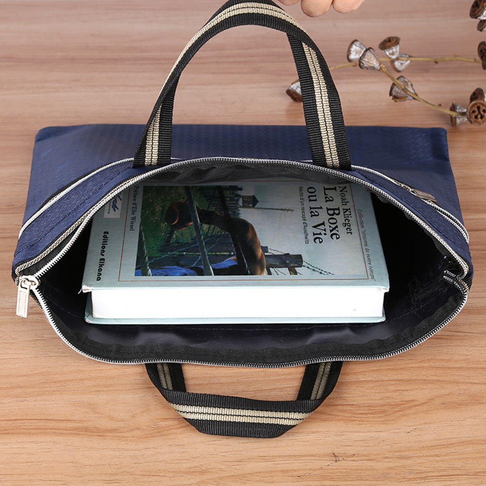 Portable Document Bag Oxford Cloth Waterproof Briefcase Conference Paper Bag Business Briefcases A4 Zipper Bag Information Bags