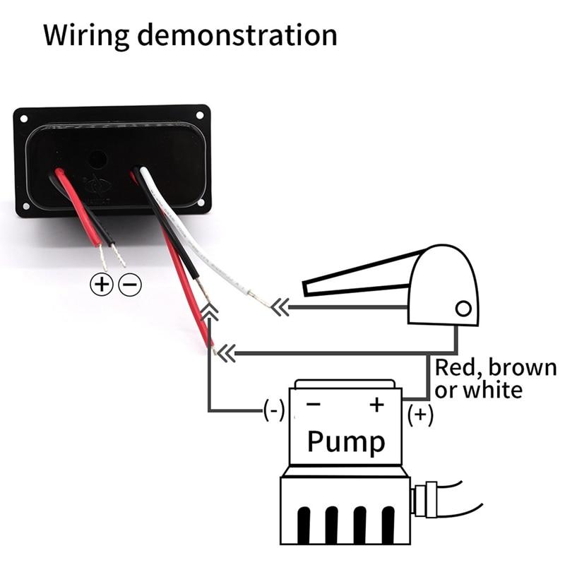 12V LED Fused Circuit Breaker Marine Bilge Pump Switch Panel with Indicator