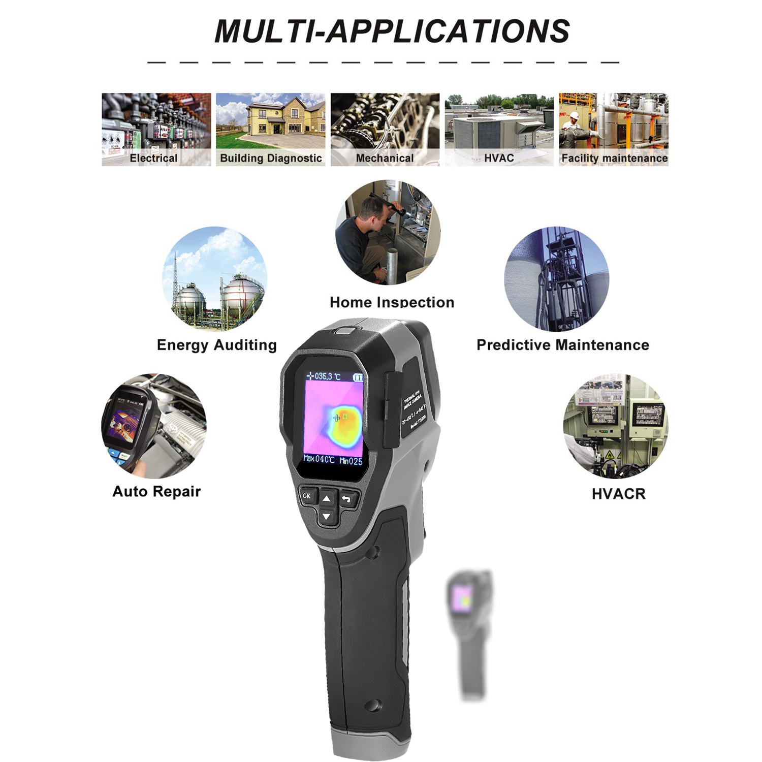 Mini Handheld Thermal Camera TFT Imaging Devices With LCD Display For Imaging Camera 3