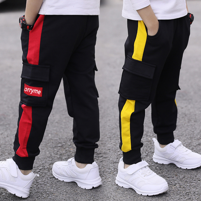children pants Boy Sports Pants Big Boy Pants Spring Teenage Spring Toddler Casual Kids Trousers For Boys Clothes Age 3-12 Year
