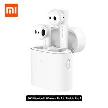 جديد Xiaomi الهواء 2 TWS سماعة لاسلكية تعمل بالبلوتوث سماعة Xiaomi Airdots برو 2 اللاسلكية سماعات LHDC المزدوج Mic السيارات وقفة الحنفية التحكم