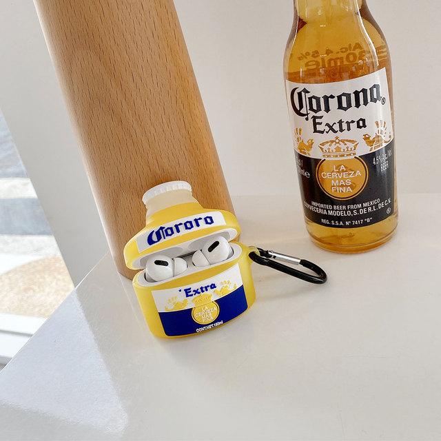 Hot Leisure Bier Ring Zachte Siliconen Bluetooth Draadloze Oortelefoon Cover Voor Airpods 1 2 Doos Anti-Fall Headset Case