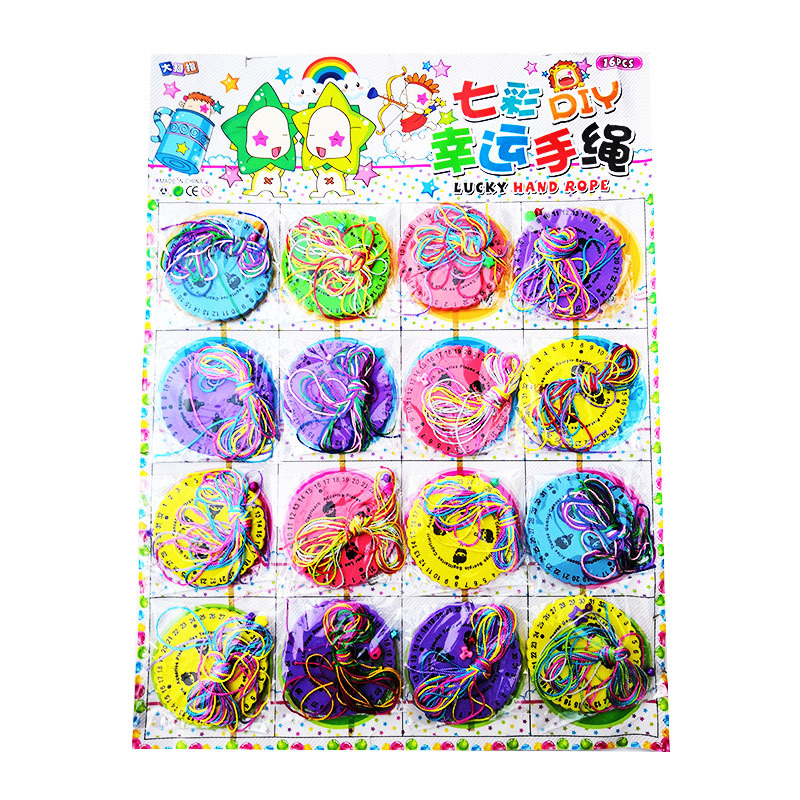 Hanging Board Toy Lucky Hand Knitted Disc Weaving Plate Self-Made Bracelets Constellation Rope Braiding Machine GIRL'S And BOY'S