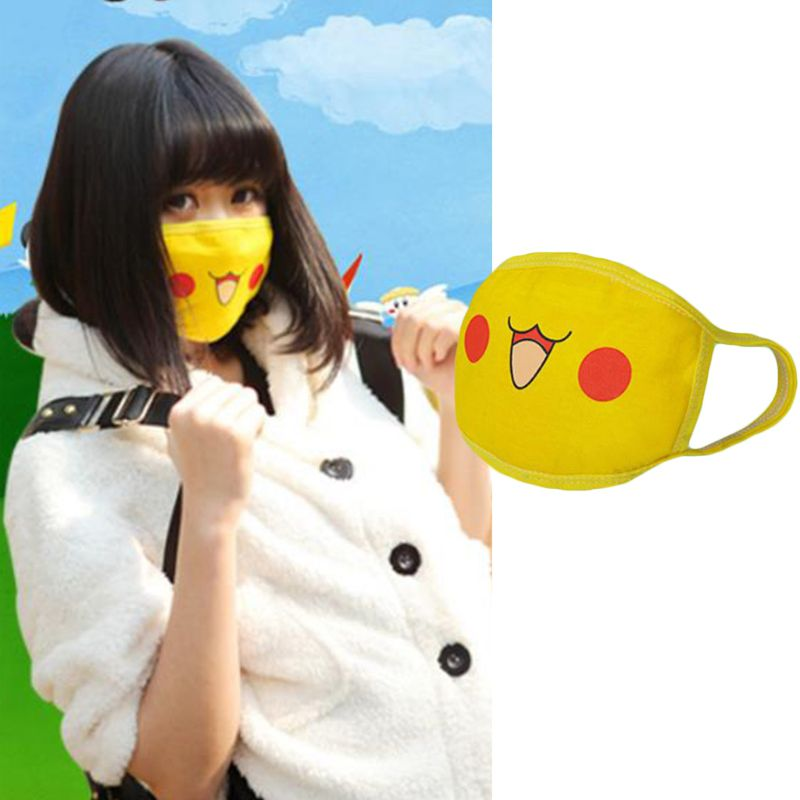 Unisex Cute Anime Figures Cosplay Mouth Mask Kawaii Cartoon Print Mouth-Muffle