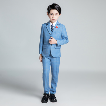 YuanLu Boys Suits For Wedding Party Piano Blazer Jacket 5PCS Formal Prom Kids Suits Slim Fit Children Clothes Terno Infantil