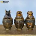 Статуэтки для хранения в античном египетском стиле, статуэтки из смолы Фараона, кошки, Божия, для домашнего декора