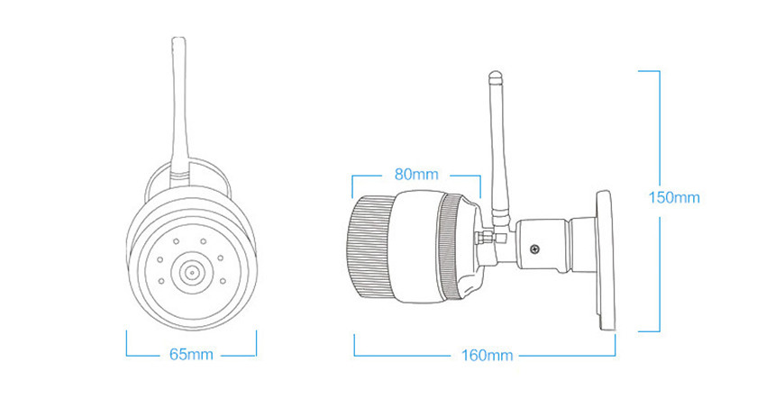 HD Trådlös bullet IP-säkerhetskamera 1080P för inomhus- eller - Säkerhet och skydd - Foto 5