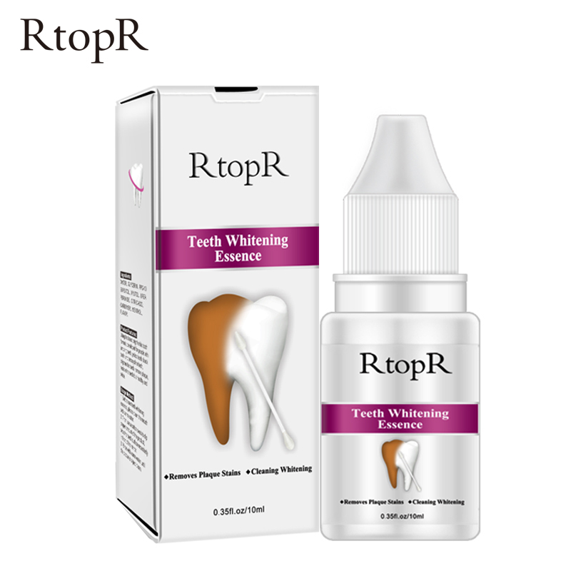 RtopR Teeth Whitening Essence Powder Oral Hygiene Cleaning Serum Removes Plaque Stains Tooth Bleaching Dental Tools Toothpaste