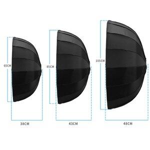 Image 5 - Selens 65cm/85cm/105cm Diffuser Reflector Parabolic Umbrella Beauty Dish Softbox For Flash Fotografia Light Box Carrying Bag