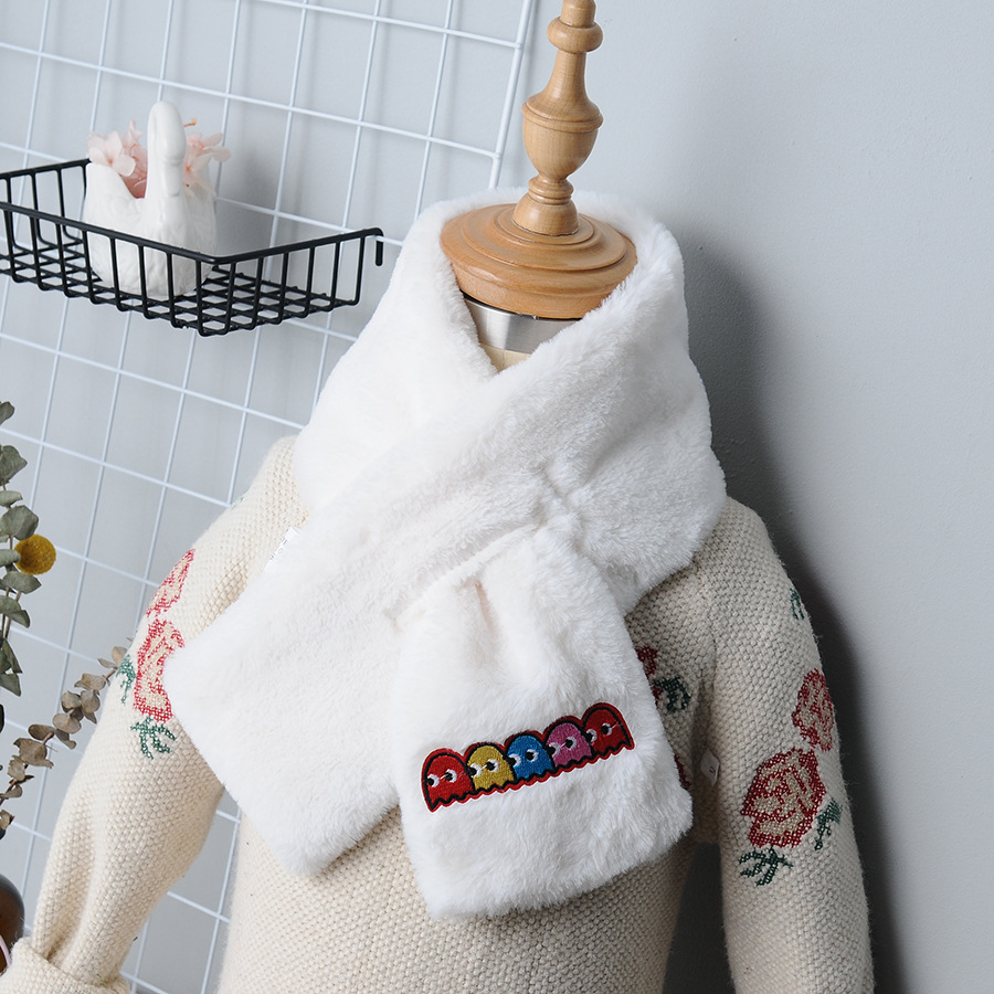 New Style Plush Scarf Imitation Fur Scarf Women's Korean-style Autumn & Winter Faux Rabbit Fur Collar Thick