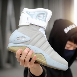 7ipupas Neue Stiefel für Männer, Frauen, USB Aufladbare Glowing Schuhe Mann Winter Stiefel Partei Schuhe Kühlen Soldat Stiefel Zurück zu Zukunft