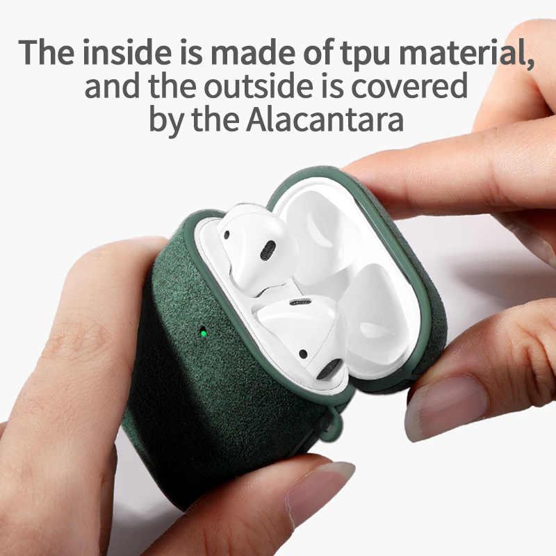 Sancore Alcantara Artificial Leather Earphone Case For Apple