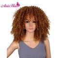 Короткие кудрявые парики Amir для чернокожих женщин, синтетические парики смешанного коричневого цвета, термостойкая африканская прическа д...