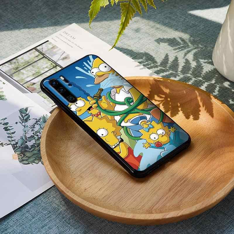 Lucu Kartun Homer J. simpson Bart untuk Huawei P20 P 30 Lite Pro P Smart Mate 10 Y9 2019 Silikon Soft Cover tritone