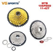 VG Sports MTB Cassete 10 Speed 11-42T Bicycle Freewheel Bikes Mountain Bike Cassette Sprocket Bicycle Parts For Shimano Sram фитинг rock force rf spl06 02