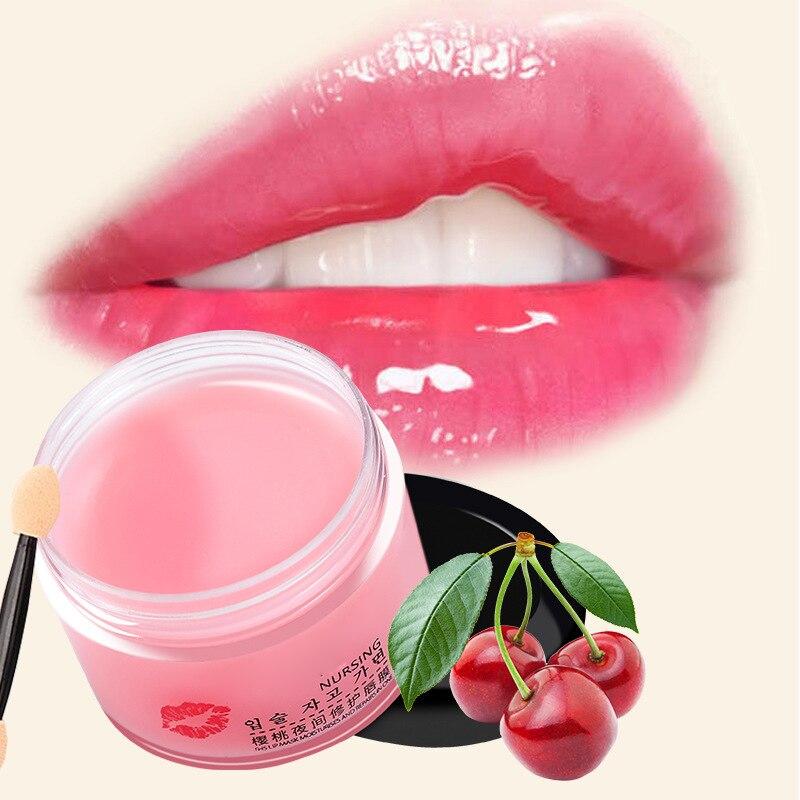 Lip Sleeping Mask Plumper Lip Care Hydrating Natural Nourishing Lip Balm Reduce Fine Lines Moisture Smoothing Dryness Lip Masks