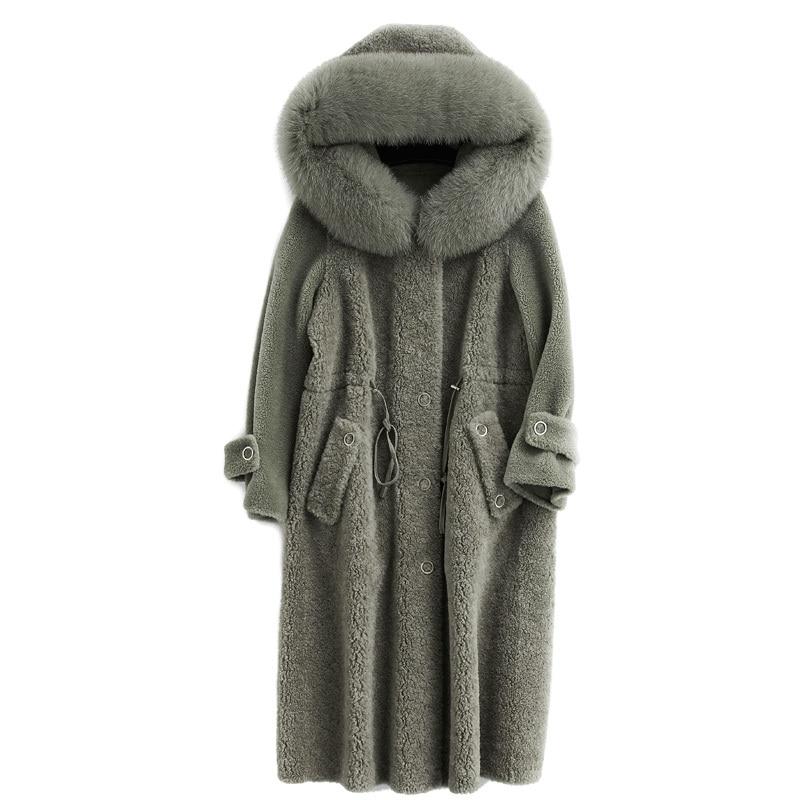 Autumn Winter Coat Women Clothes 2020 100% Wool Jacket Real Fur Coat Korean Vintage Sheep Shearling Tops Abrigo Mujer ZT3629