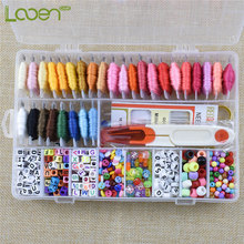 Looen 30 Colors Embroidery Floss With Storage Box Cross Stitch Kit DIY Beads Bracelets String For Beginner Sewing Accessory