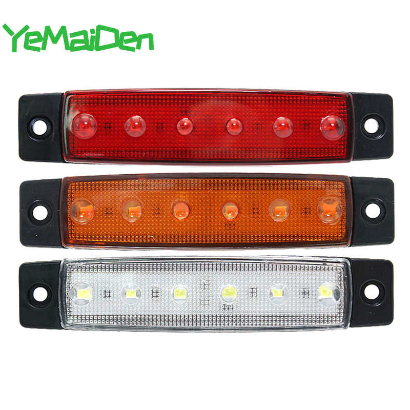 Auto Externe Led Verlichting 24V 12V 6LED Auto Bus Vrachtwagen Vrachtwagen Ute Side Marker Indicator Lage Led Trailer waarschuwing Achter Side Brake Lamp