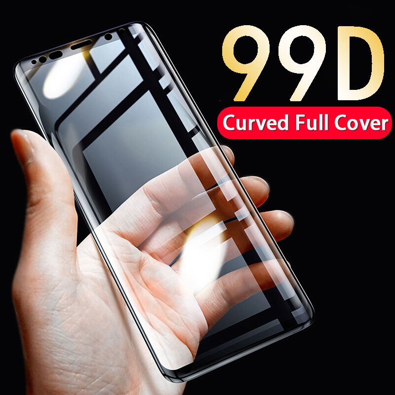 99D Curved Full Cover Protective Glass For Samsung Galaxy S8 S9 Plus S7 S6 Edge Tempered Glass For Samsung Note 9 8 Glass Film in Phone Screen Protectors from Cellphones Telecommunications