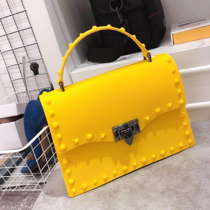2020 модные дизайнерские женские сумки мессенджеры высокого качества ПВХ желе сумка через плечо сумки для женщин кожаные сумки ЖЕЛТЫЕ|Сумки с ручками|   | АлиЭкспресс