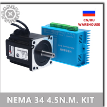 86 Stepper Motor Drive Nema 34 Servo Motor 86HSE4.5N+HBS86H Closed-loop step motor 4.5NM Nema34 86 Hybrid closed loop 2-phase.