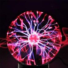 חידוש זכוכית קסם פלזמה כדור אור כדור ירח לילה אור 4 5 6 8 אינץ מגע הנורה שולחן מנורת חג המולד חדש שנה ילדים מתנות