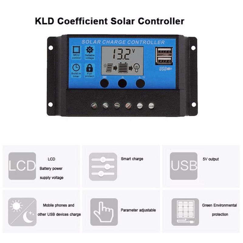 de bateria e 20a solar carregador de