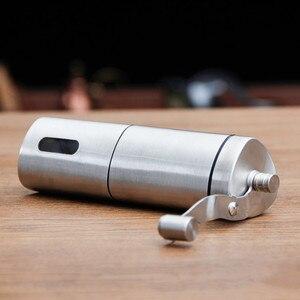 Image 5 - 수동 커피 그라인더 빨 세라믹 코어 스테인레스 스틸 수제 미니 휴대용 커피 콩 버 그라인더 밀 주방 도구