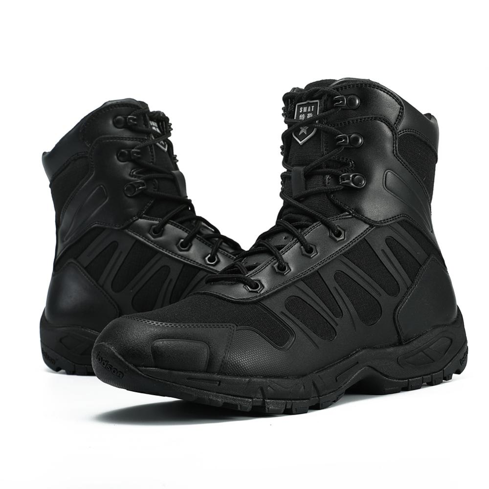 Autumn Men Tactical Military Boots Working Safety Shoes Botas Hombre Army Black Outdoor Shoes Combat Desert Men Boots