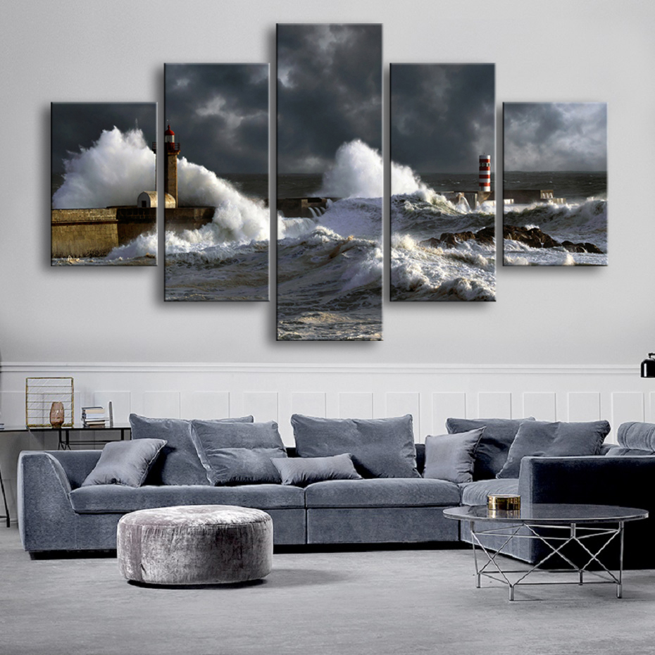 Merveilleux Mot-Clé Storm landscape HD Canvas print Painting Home decor Picture Room ...