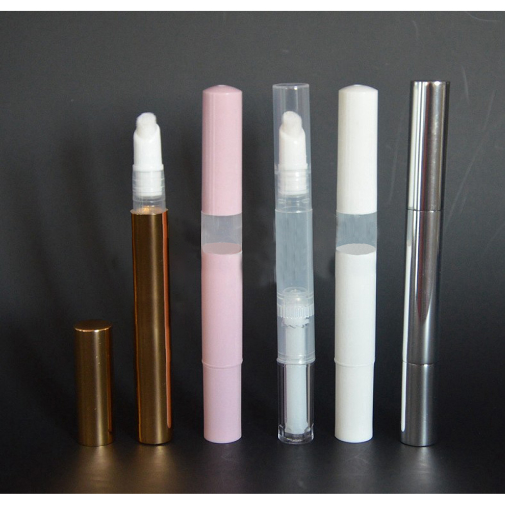 1Pc 3ml Empty Twist Pen With Brush Cosmetic Container Lip Gloss Transparent Eyelash Growth Liquid Tube Nutrition Oil Bottle Hot