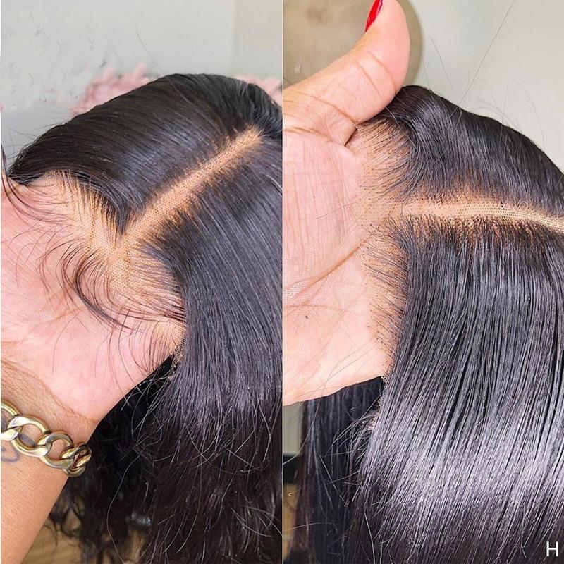 glueless sedoso jato reto cor preta perucas 04