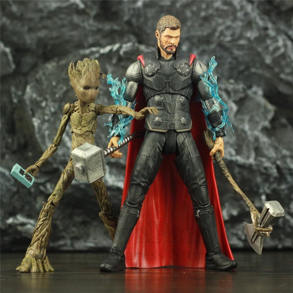 Original Marvel Select Avengers 3 Infinity War THOR 2-Pack 7