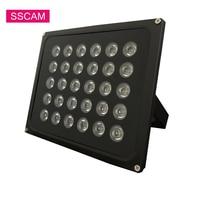 Conjunto de luces LED infrarrojas de relleno de seguridad, 30 unidades de luces infrarrojas de CA de 220V y 60W, lámpara de iluminación impermeable IR para cámara CCTV