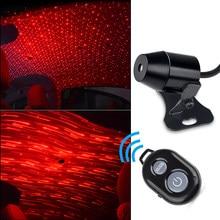 USB атмосферный светодиодный светильник лампа для салона автомобиля, романтичный Ночной светильник на крышу автомобиля, лазерный проектор с...