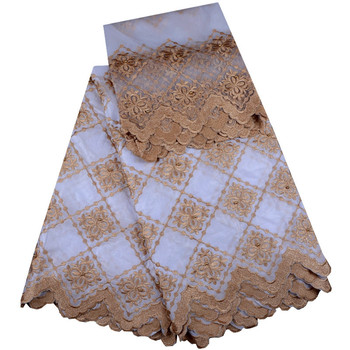 African Lace Fabric High Quality Bazin Hot Sale African white Bazin lace Fabric With Beads For Wedding