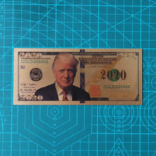 10pcs New Products For 2020's America Trump Banknotes Dollar Banknote in 24K Gold Paper Money For Collection And Gift недорого
