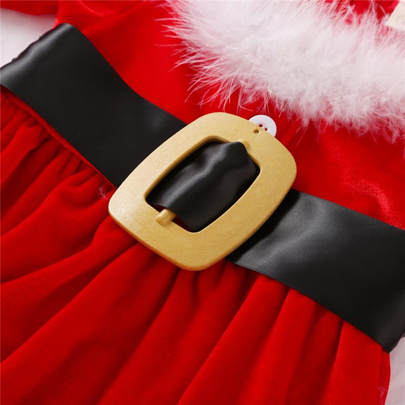 Baby Christmas Fleece Dress Chubibi