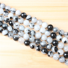 Black Crystal 4/6/8/10 mm Natural Stone Bead Round Bead Spacer Jewelry Bead Loose Beads For Jewelry Making DIY Bracelet Necklace