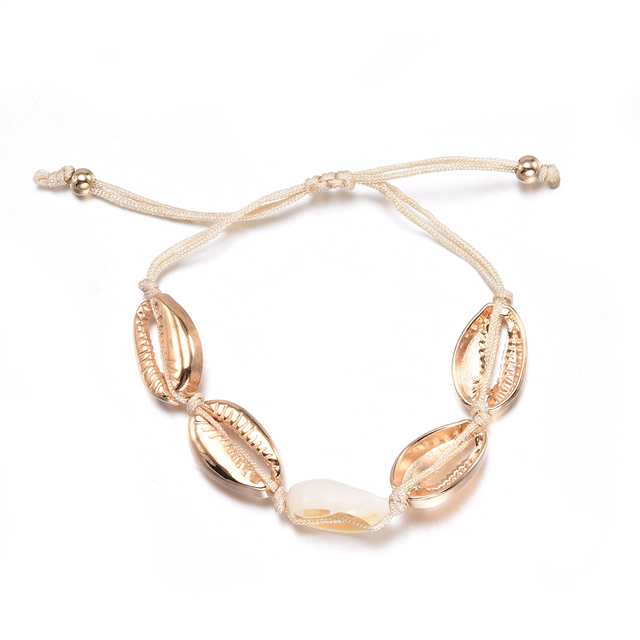Women Gold Shell Bracelet...