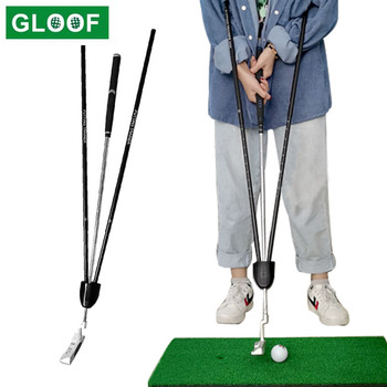 1Pcs Golf Putting Swing Trainer Practice Guide Beginner Alignment Gesture Corrector Wrist Arms Stable Restrain Training Tool 1pc golf swing trainer beginner gesture alignment practice guide golf clubs gesture correct wrist training aid