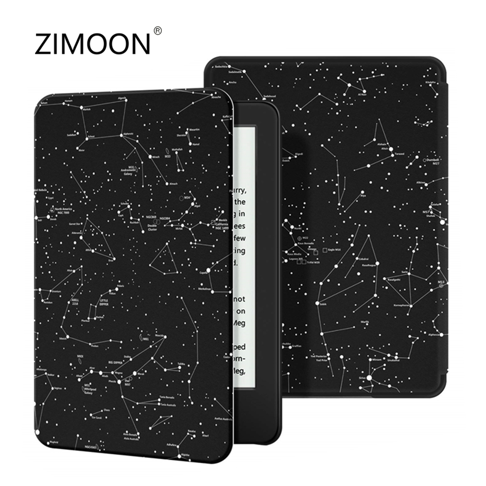 Case For All-New Kindle 10th Gen 2019 Release Thinnest Protective Smart Cover Print PU Leather Case With Auto Sleep/wake Up