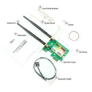 Image 5 - Ubit Bluetooth WiFi כרטיס AC 1200Mbps 7265 אלחוטי WiFi PCIe מתאם רשת כרטיס 5GHz/2.4GHz הכפול להקת PCI Express כרטיס רשת