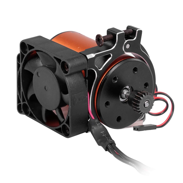 RC 4268 4274 Motors Heatsink + High Speed Cooling Fan CNC Machined Alu Alloy for RC 1/8 1/10 Buggy Truck Cars Motors,Black(China)