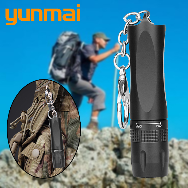 T6 XM-L 4000lm Mini Powerful Led Flashlight One Mode ON / OFF Portable Camping Lamp Torch Lights Defense Tactical Light