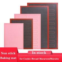 Estera de silicona perforada de varios tamaños para hornear, revestimiento antiadherente para hornear, hoja de horno para galletas/PAN/macarrón/galletas, herramientas de cocina