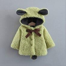 Зимнее пальто для маленьких девочек; Фланелевое пальто с бантом и героями мультфильмов; куртка для новорожденных мальчиков; пальто с капюшоном для малышей; детская куртка; детская одежда